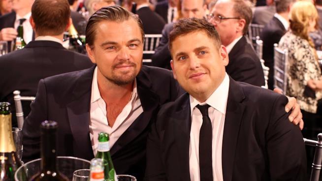 Leonardo DiCaprio e Jonah Hill a un evento ufficiale