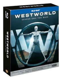 Il cofanetto italiano dell'edizione Blu-ray con la prima stagione di Westworld