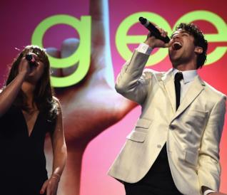Lea Michele e Darren Criss ai tempi di Glee
