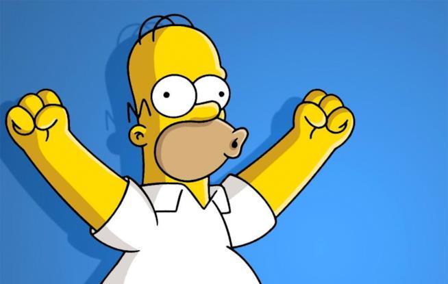 Homer Simpson esulta