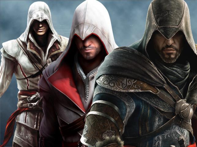 Ezio Auditore nei vari titoli di Assassin's Creed II