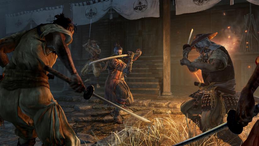 Una sequenza di combattimento in Sekiro: Shadows Die Twice