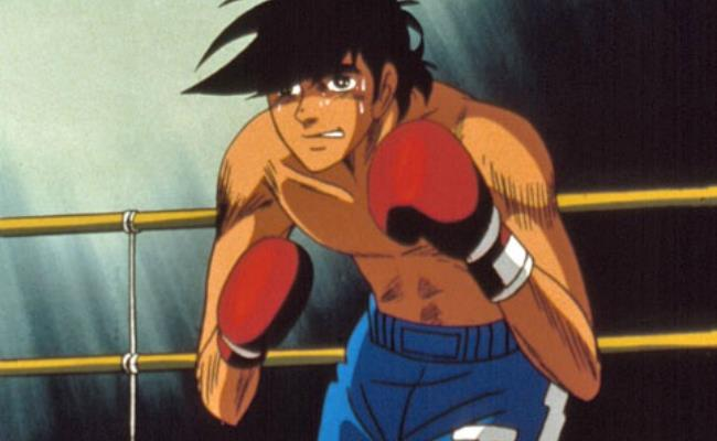 Rocky Joe sul ring in una scena del cartoon