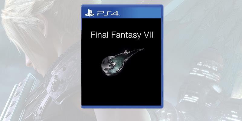 La boxart temporanea di Final Fantasy VII Remake