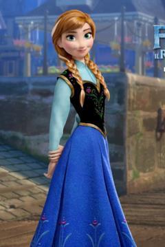 Anna nel character banner di Frozen