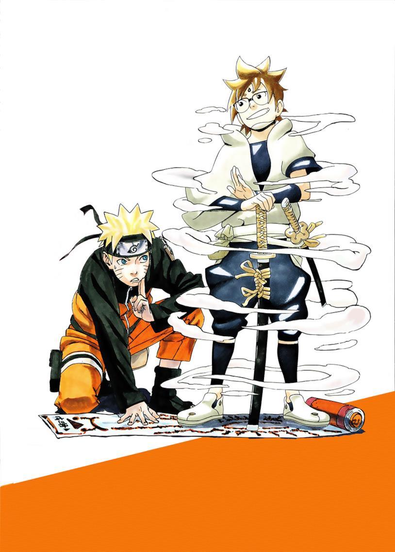 Kishimoto disegna Naruto e Hachimaru di Samurai