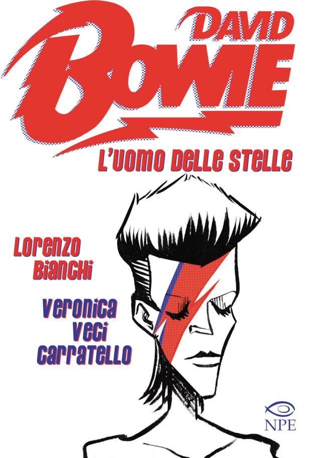 La copertina del volume della Nicola Pesce Editore, L'Uomo delle Stelle, dedicato a David Bowie