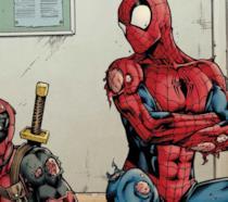 Deadpool e Spider-Man in una tavola tratta da un fumetto