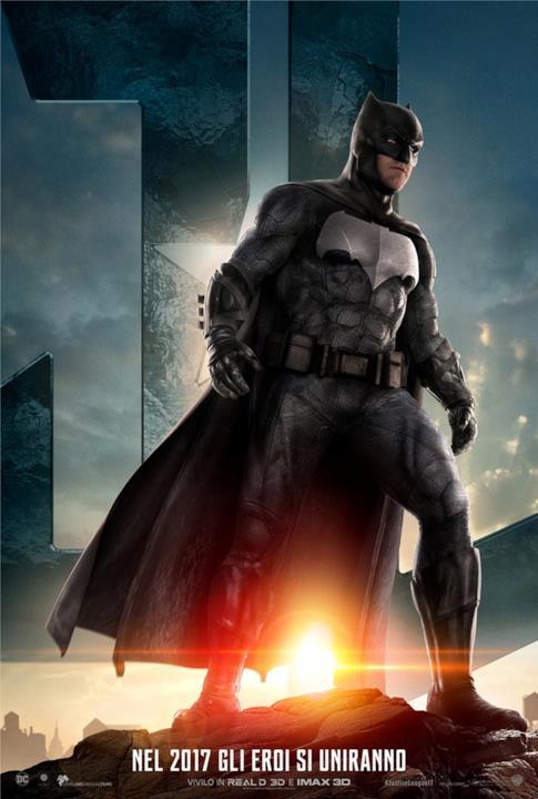 Ben Affleck nel character poster di Batman