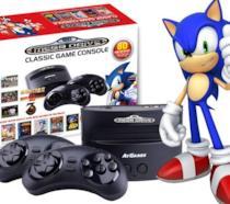 La versione originale del SEGA Mega Drive in una foto d'epoca