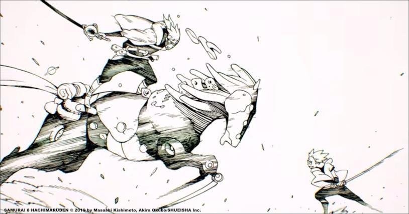 Samurai 8 battaglia shonen manga