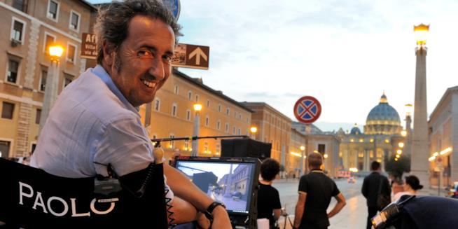 Paolo Sorrentino durante le riprese di The Young Pope