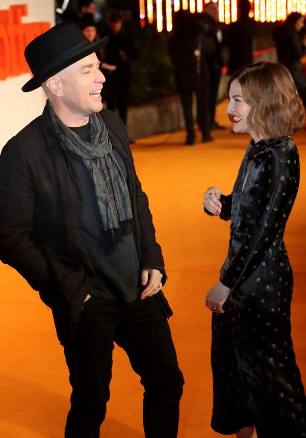 Ewan McGregor e Kelly Macdonald sull'orange carpet