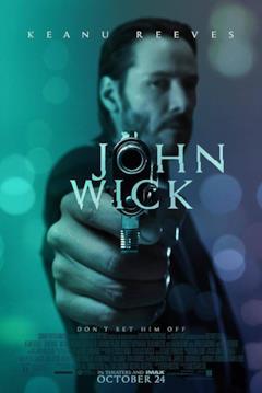Locandina USA del film John Wick
