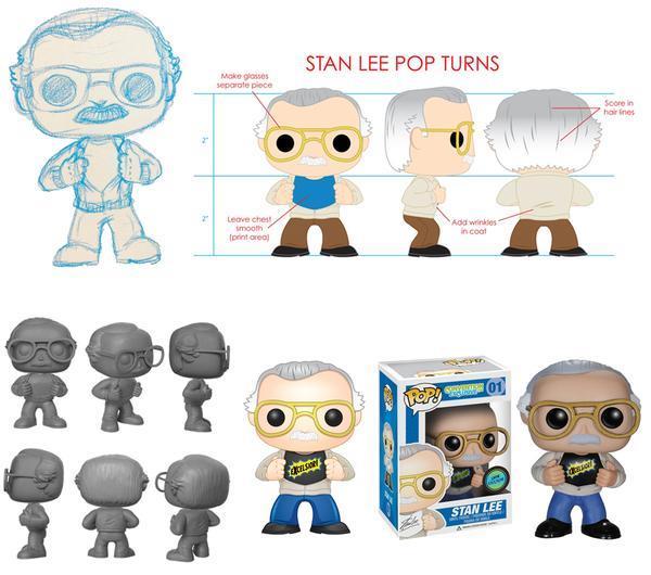 Stan Lee in uno dei Funko Pop!Vinyl a lui dedicati