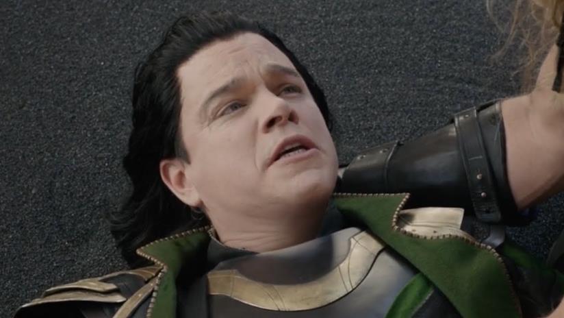 Matt Damon in una scena di Thor: Ragnarok