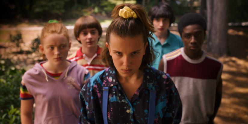 Un'immagine dalla terza stagione di Stranger Things