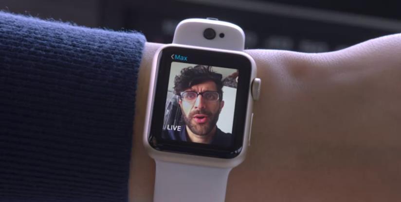Immagine promozionale del cinturino Cmra di Glide per Apple Watch