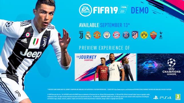 Una demo gratuita per FIFA 19 arriva il 13 settembre