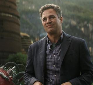 Un primo piano di Mark Ruffalo nei panni di Bruce Banner in Thor: Ragnarok