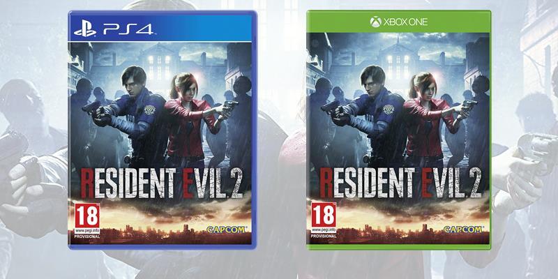 La boxart di Resident Evil 2 su PS4 e Xbox One