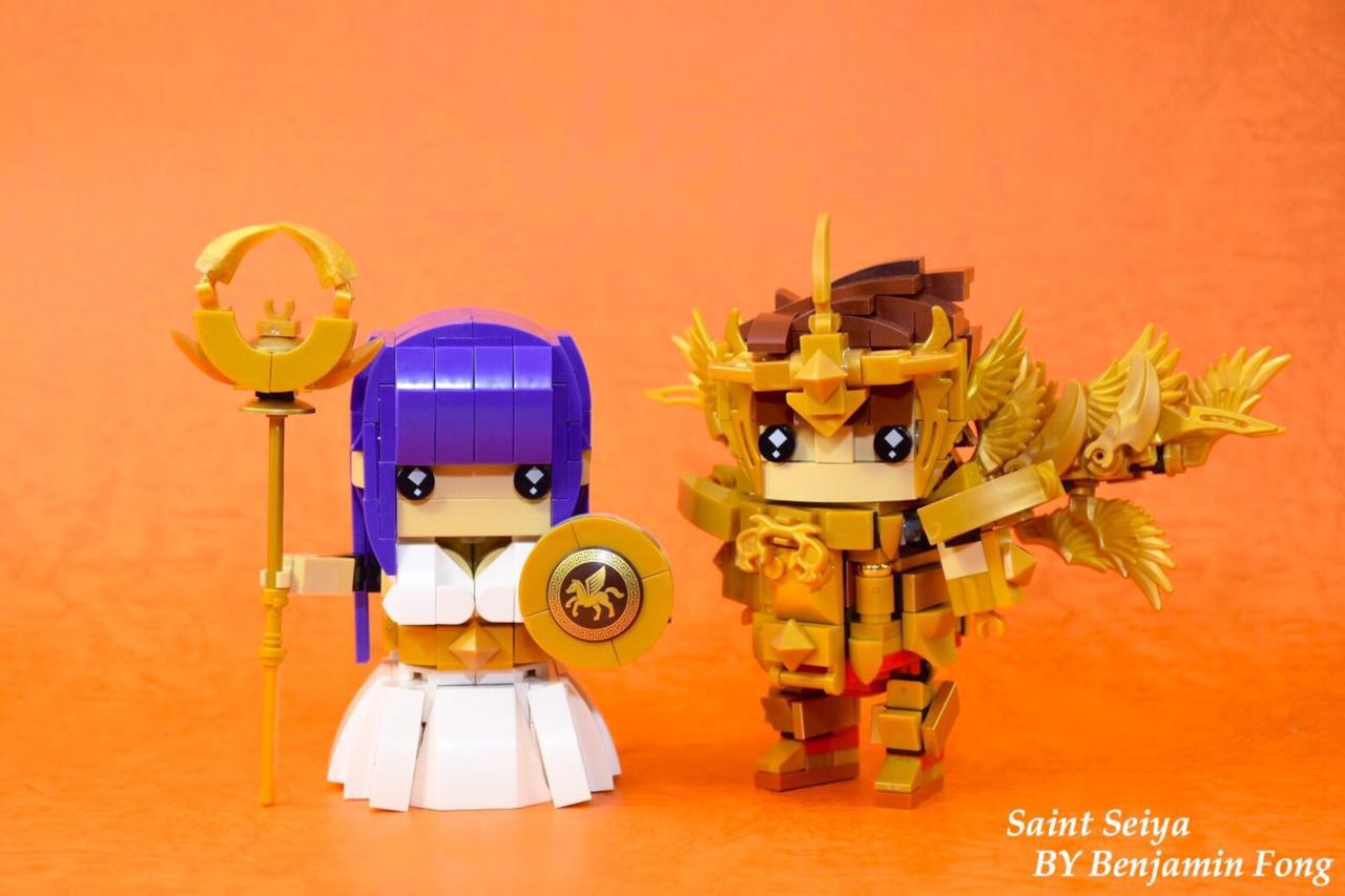 Dettagli del set Brickheadz LEGO con Athena e Pegasus