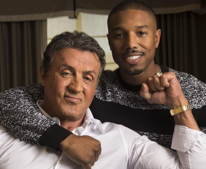 Michael B. Jordan e Sylvester Stallone, protagonisti di Creed 2