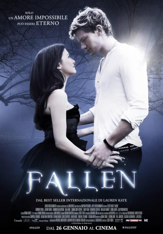 Luciel e Daniel nella locandina italiana di Fallen