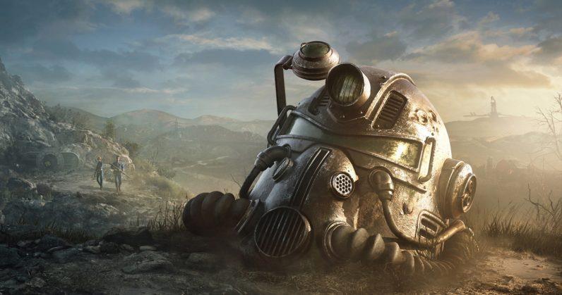Un casco Vault Tech dal nuovo trailer di Fallout 76