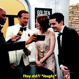 Emma Stone commenta il bacio tra Ryan Gosling e Andrew Garfield