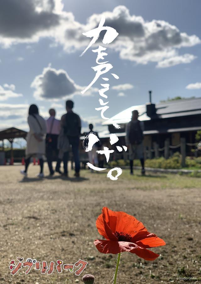 Il poster del parco ispirato al mondo Miyazaki