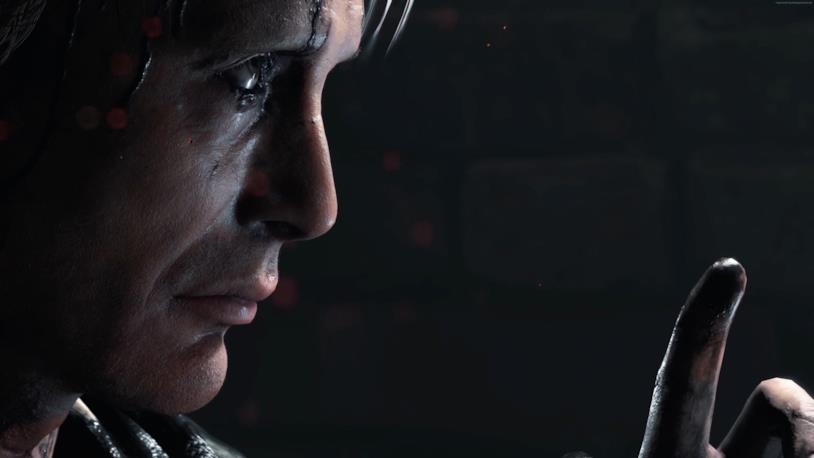 Mads Mikkelsen in un'immagine di gioco da Death Stranding