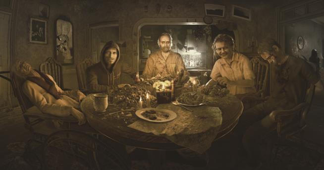 La famiglia Baker al completo in Resident Evil 7