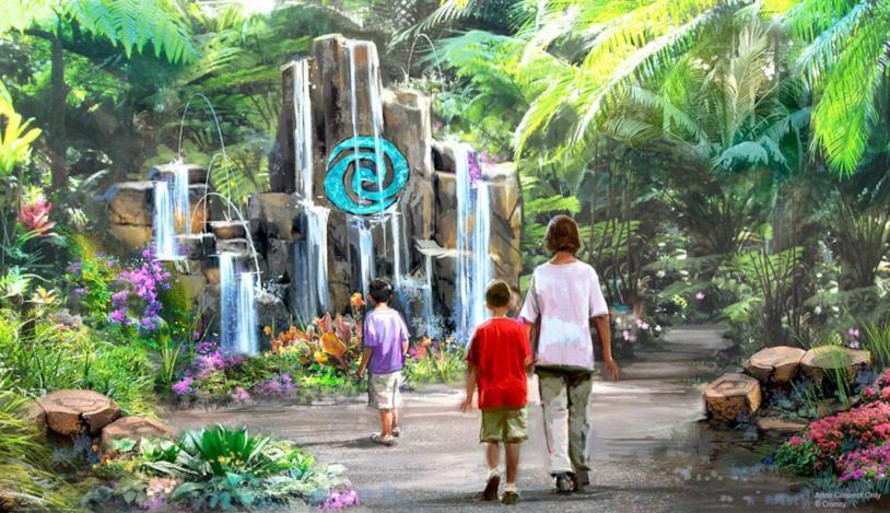 Concept art dell'attrazione Journey of Water a Epcot