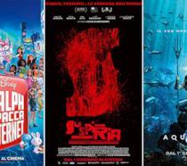 I poster dei film Ralph spacca internet, Suspiria, Aquaman