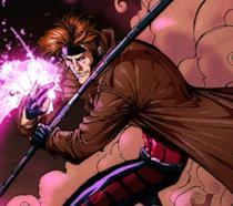 Gambit in una scena dei fumetti Marvel