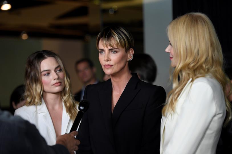 Margot Robbie, Charlize Theron e Nicole Kidman alla proiezione stampa di Bombshell