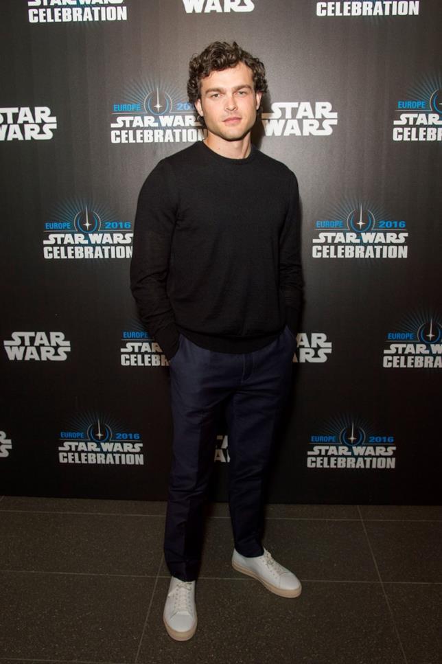 Il giovane Han solo Alden Ehrenreich alla Star Wars Celebration