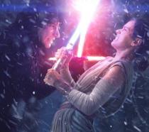 Rey e Kylo Ren in Star Wars 7
