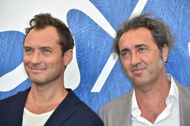 L'attore britannico Jude Law ed il regista Paolo Sorrentino