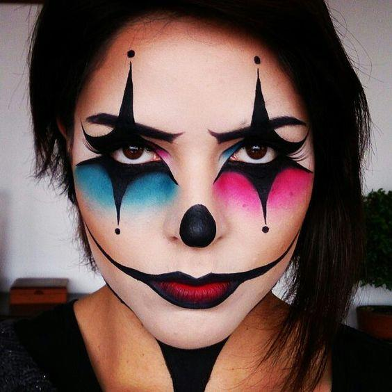 Un trucco femminile da clown