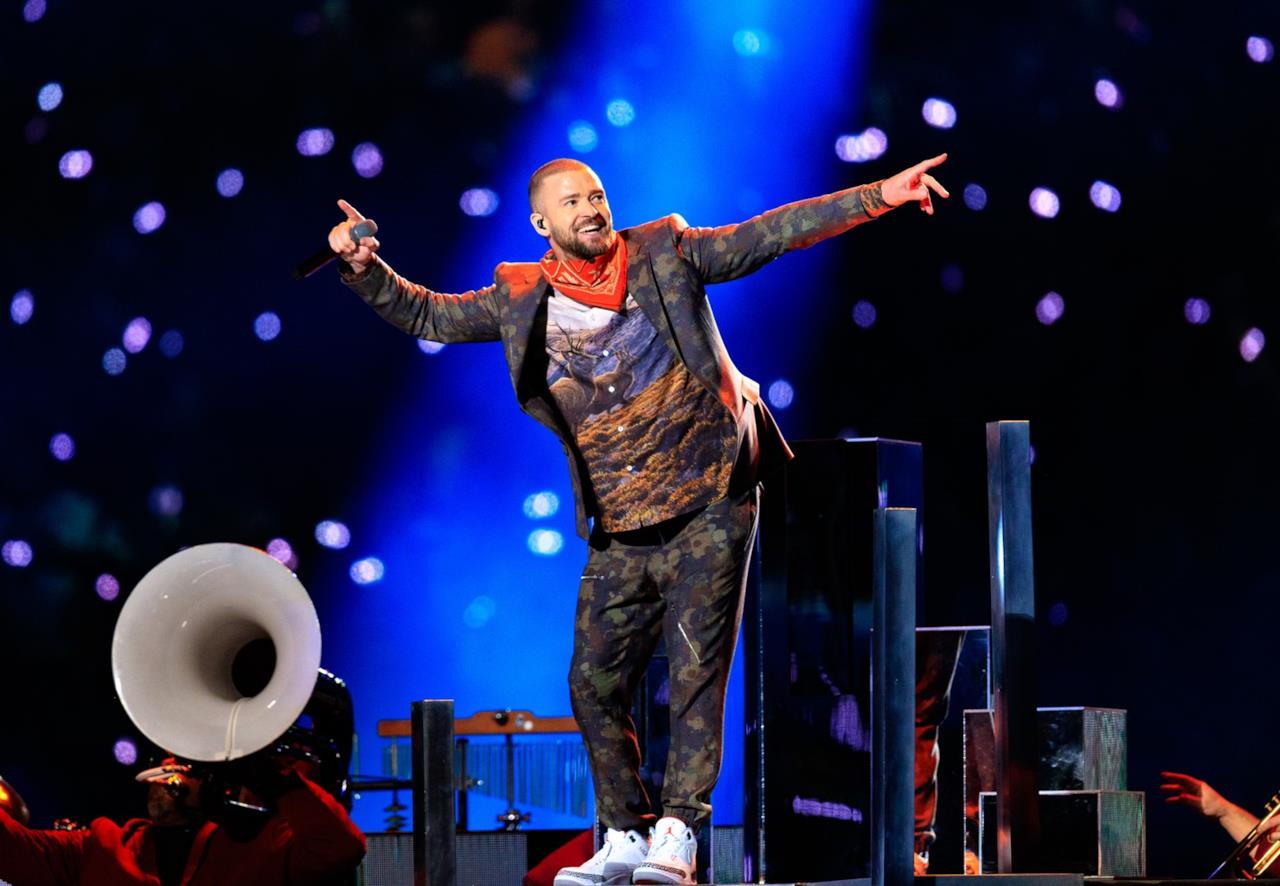 Un'esibizione di Justin Timberlake al Super Bowl 2018