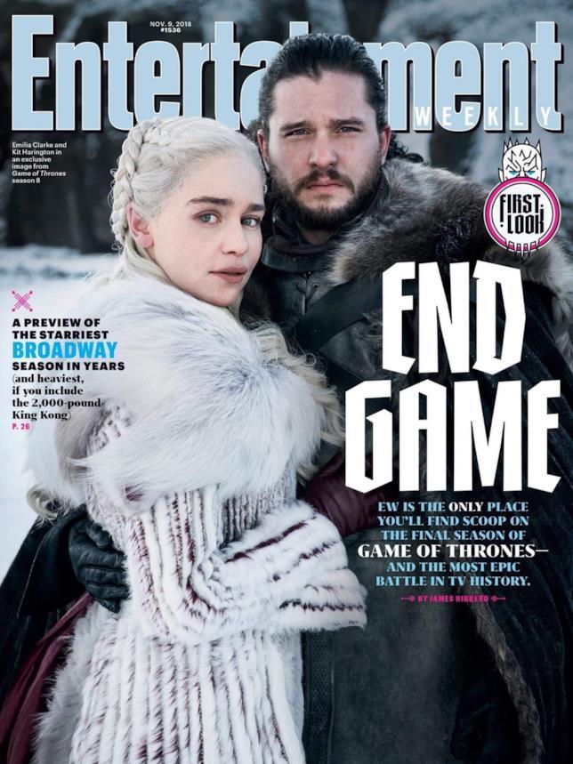 La copertina di EW a tema Game of Thrones 8