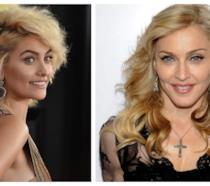 Primo piano di Paris Jackson e Madonna