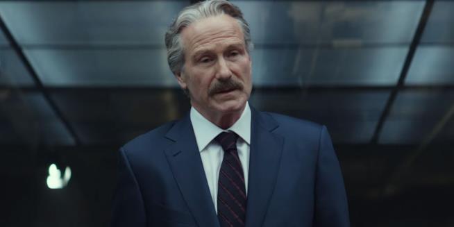 Il Generale Ross in una scena di Capitan America: Civil War