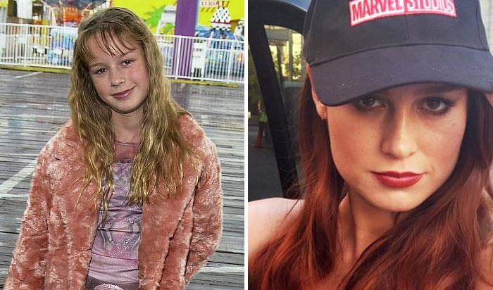 Brie Larson (Capitan Marvel) da bambina e nei film Marvel