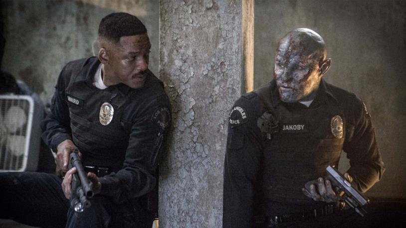 Will Smith in una scena di Bright