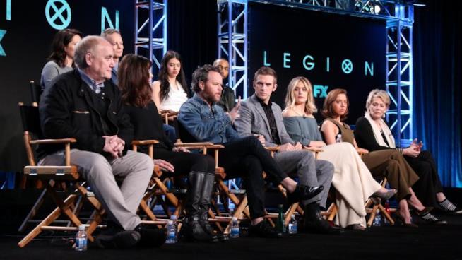 Il cast di Legion alla presentazione stampa dello show