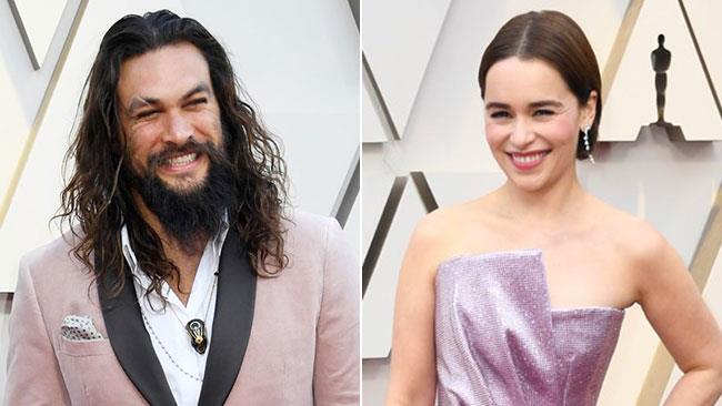 Jason Momoa ed Emilia Clarke agli Oscar 2019