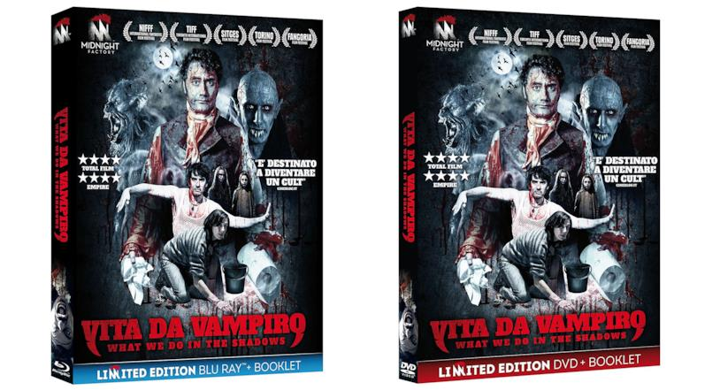 I cofanetti Blu-ray e DVD italiani di Vita da Vampiro - What We Do in the Shadows